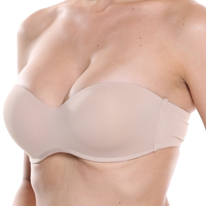 Plusgalpret Sexy Women Slim Thin Seamless Strapless Bra Comfortable Unlined Underwired Brassiere Wrapped Chest plus size 40A-46C