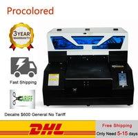 Procolored T 셔츠 인쇄 기계 DTG 프린터 A4 A3 자동 평판 UV 프린터 인쇄 Tshirt 전화 케이스 목재 T-셔츠