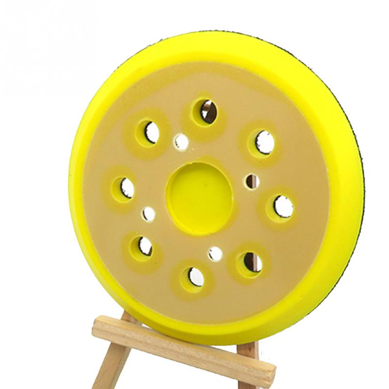 Image 5 - 125mm 8 Hole For Electric Grinder Backing Polishing Self Adhesive Wear Resistance Sanding Disc Accessories Sandpaper Plate Pad-in Abrasive Tools from Tools