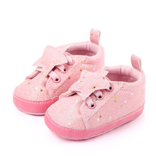 Baby Girl Shoes For 0-18M Cotton Soft Sole Antiskid Newborn Pre Walker Shoes Baby Shoes Toddler Baby Moccasins Zapatos Bebe F99(China)