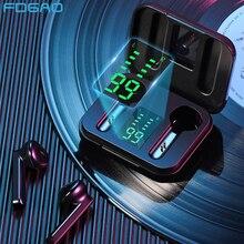 TWS Waterproof Wireless Headphones LED Display Stereo Bass Bluetooth 5.1 Earphone Touch