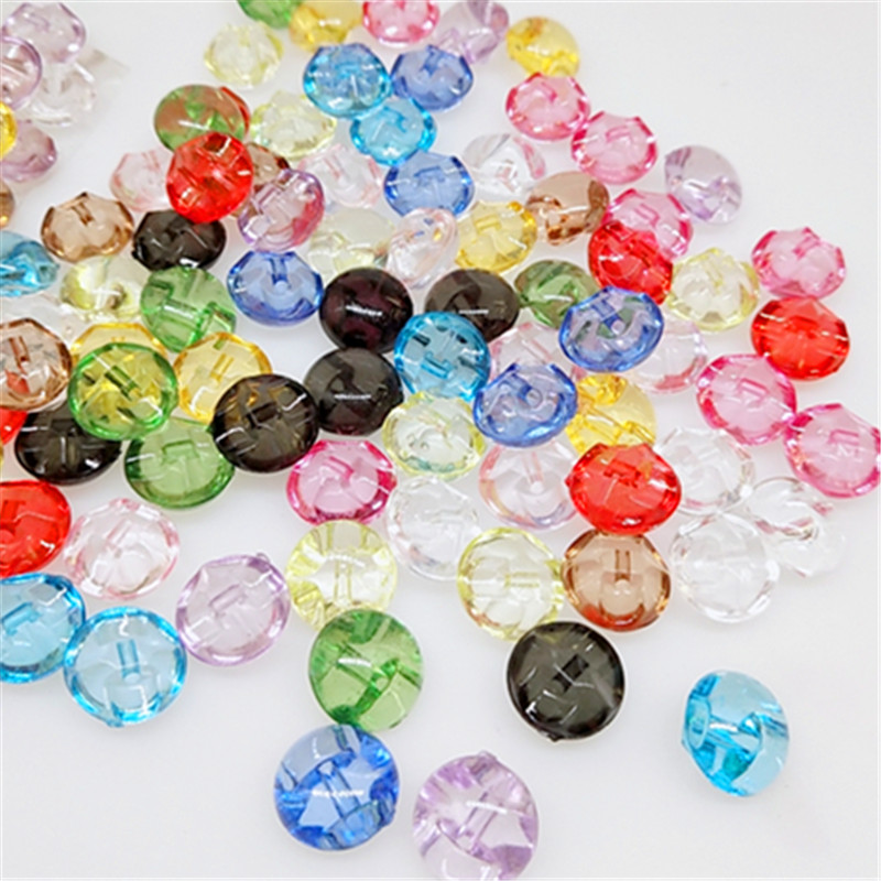 """50pcs 1//2/"""" Mix Clear Resin Button candy Eye cat button sewing child clothes Deco"""