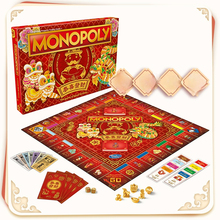 Hasbro Genuine Model Monopoly Game Board Card New Year Edition Children's Educational Parent-child Interaction Boy Girl Toy