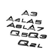 Estilo do carro de deslocamento adesivo tronco do carro adesivo para audi q2 q3 q5 q7 a6 c6 a4 b8 a5 a7 a8 a3 a1 tt tfsi audi abt acessórios
