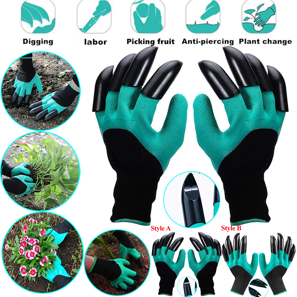 Gardening Gloves With Claws ABS Plastic Garden Easy Raking Planting Dig Gloves Lawn Care Outdoor Living Yard Gifts  D40