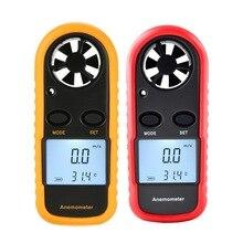 GM816 Цифровой Анемометр Термометр ручной Мини Высокая точность скорость ветра метр для измерения скорость ветра, температура