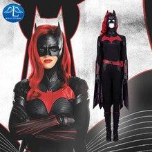 Batwoman Batgirl 코스프레 의상 할로윈 슈퍼 히어로 Batgirl jumpsuit 케이트 케인 의상 Batwoman 섹시한 바디 슈트 Colak 맞춤 제작