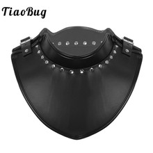 PU Leather Stand Collar Adjustable Armor Gorget Neck Protector Medieval Knight Templar Warrior Renaissance Costume for Halloween
