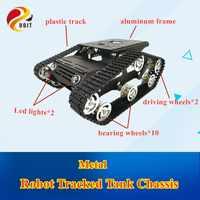 Гусеничный танк-робот Y100, рама и колесо из алюминиевого сплава для роботов, модель радиоуправляемого танка «сделай сам», бесплатная доставк...
