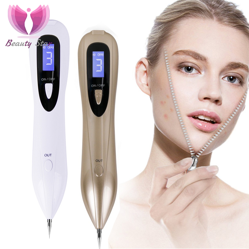 Beauty Star LCD Laser Plasma Pen Mole Tattoo Removal Machine Dark Spot Remover Freckle Wart Skin Tag Removal Tool Skin Care