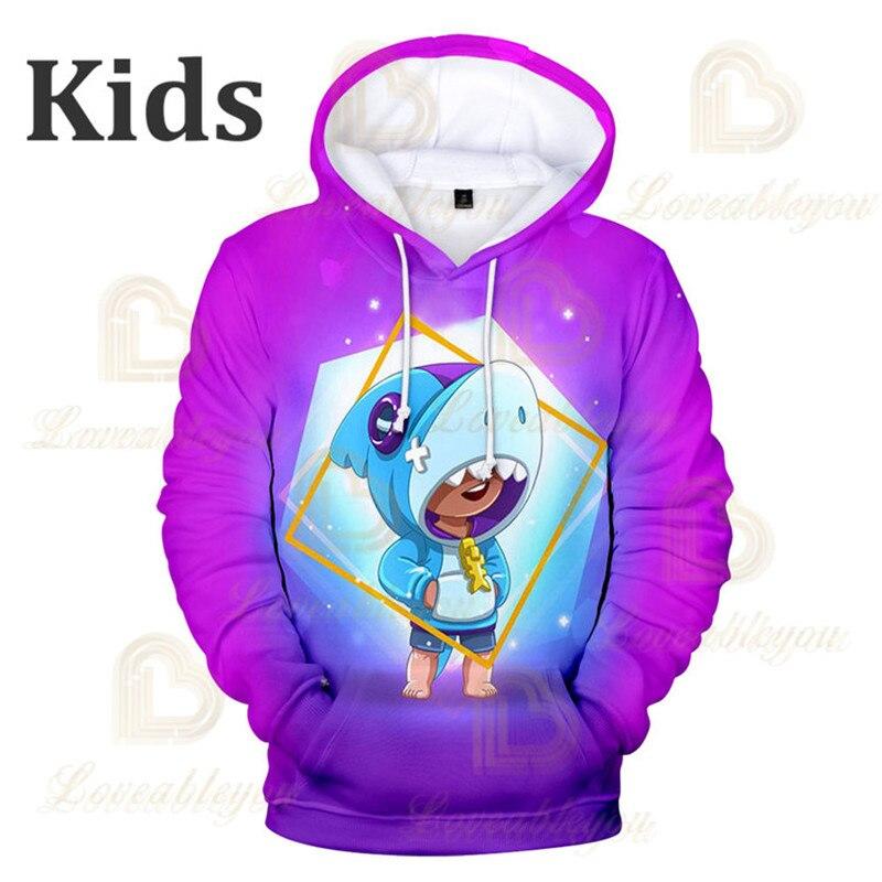 Brawls Shark Leon Star Children's Wear Kids Hoodie Shooting Game 3d Sweatshirt Brawling Boys Girls Tops Hoodies Teen Clothes