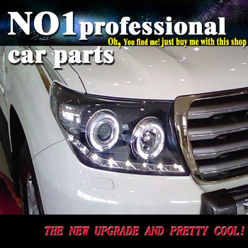 car accessories for 2013-2015 Land Cruiser Headlights Land Cruiser LED DRL Lens Double Beam H7 HID Xenon Car Accessories