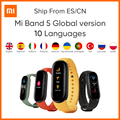 Умный Браслет Xiaomi Mi Band 5 глобальная версия 9 языков умные Miband экран Смарт Браслет сердечного ритма фитнес Traker Bluetooth Смарт-браслет