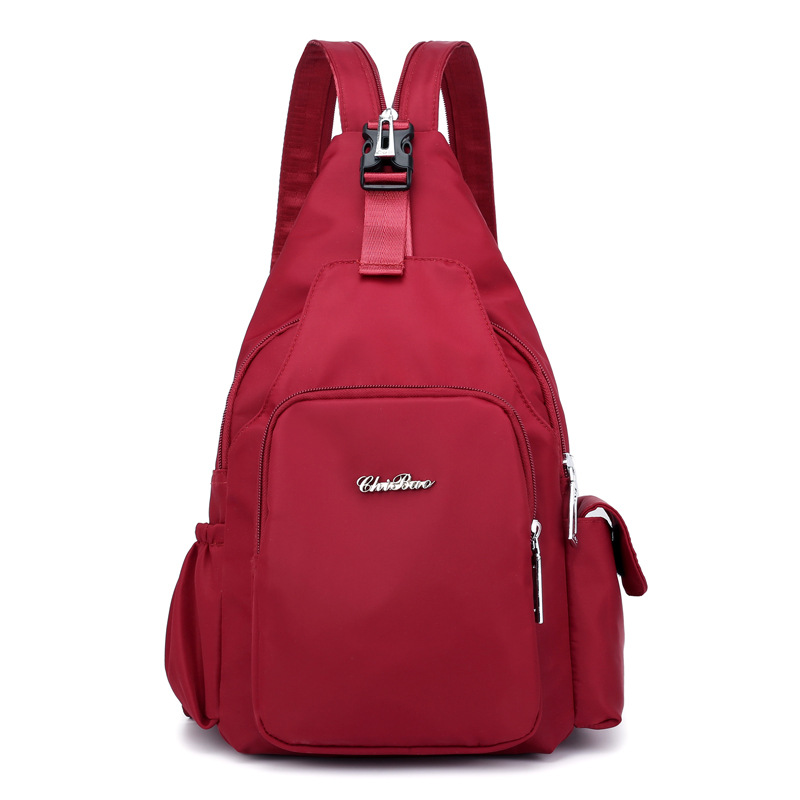 Multi-function Backpack Student Single Shoulder Bag Waterproof Nylon Cloth Fashion Chest Bags For Women Bag