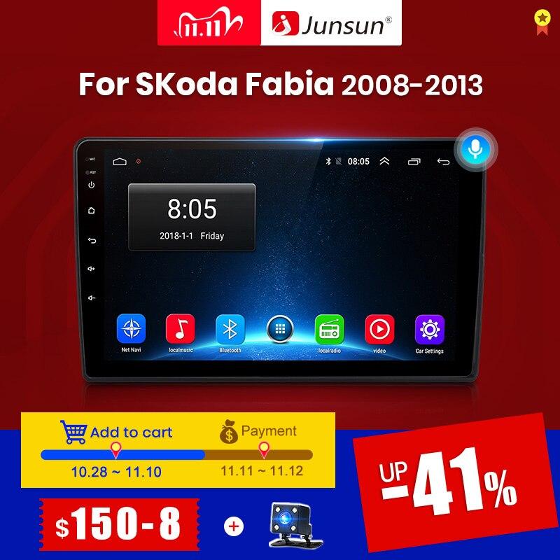 Junsun V1 Android 10,0 DSP CarPlay Auto Radio Multimedia Video Player Auto Stereo GPS Für Skoda Fabia 2 2008 - 2013 2 din dvd