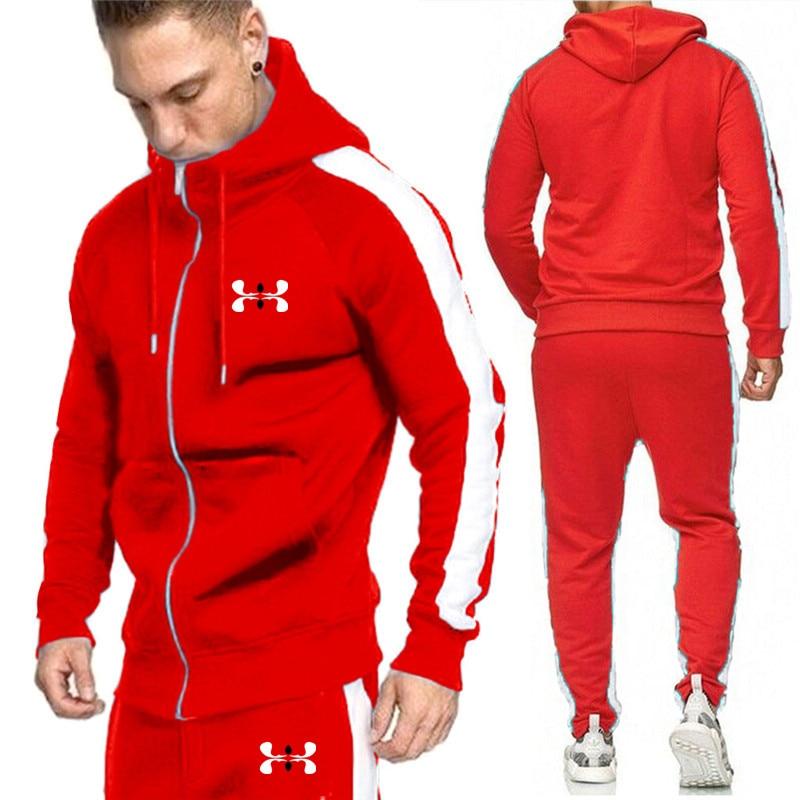 Men 's Fashion Street Wind Sports Fashion Fashion Costume Two Cases Fashion Men' S Leisure Zipper Coat