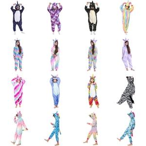 Girls Unicorn Kigurumi Stitch Pajamas For Kids Winter Flannel Onesie Pajamas Children Dinosaur Sleepwear Boys Panda Jumpsuit