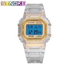 PANARS New Fashion Digital Watch Women Men Luminous Transparent LED Sport Watch Unisex 5Bar Waterproof Swim Alarm Wrist Watch