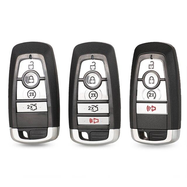 jingyuqin Car Key Case For Ford Ranger Fusion Mustang Raptor Explorer F 150 F250 F 350 4/5BTN Remote Key Cover Fob Shell Housing