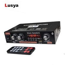 Lusya 12 v amplificador do carro 2.0 canais de áudio digital bluetooth amplificadores 45 w + 45 suporte fm tf cartão u disco remoto carro casa H3 002