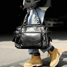 Fashion Casual Briefcase Portable Leather Laptop Men Messenger Shoulder Side Travel Briefcase Bolso Hombre Bag for Men DB60BA