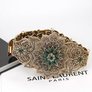 Image 5 - SUNSPICE MS Luxury Gold สีผู้หญิงเข็มขัดโลหะเข็มขัดเครื่องประดับยาวปรับความยาวงานแต่งงานหัวเข็มขัดเข็มขัดเอว 2018