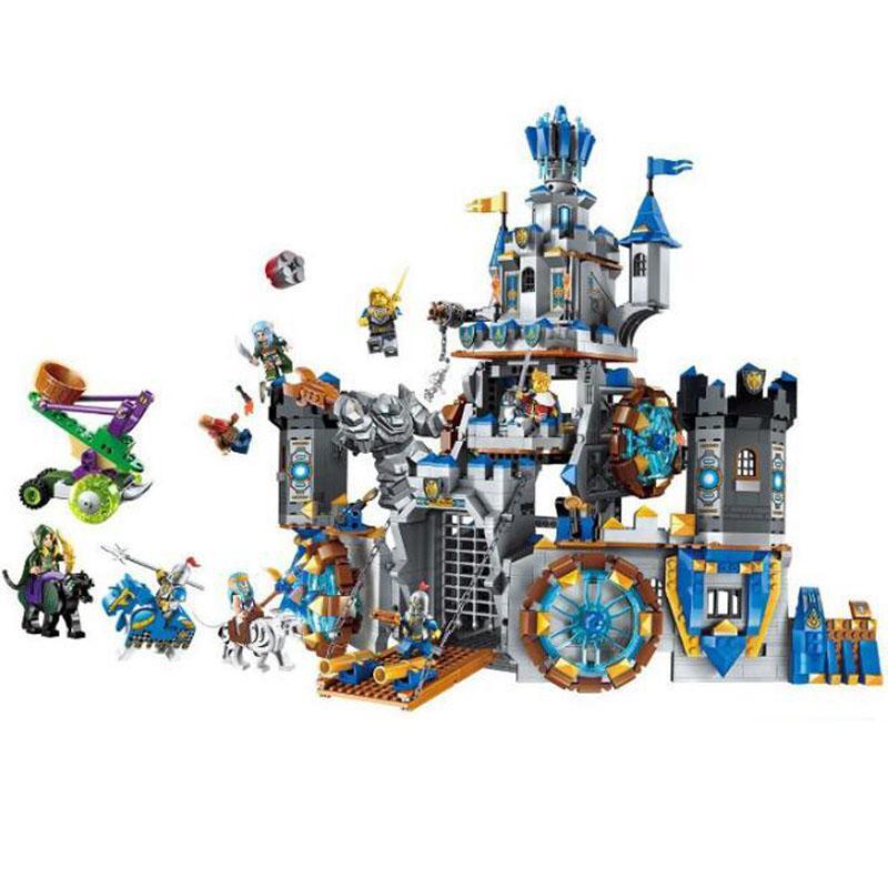 War Of Glory Castle New Enlighten 2317 Knights Battle Bunker 1541pcsbuilding Block Brick Toy