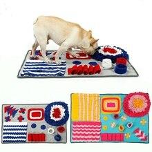 Pet Dog Snuffle Mat Smell Training Mat Nosework Blanket Cat Dog Food Anti Choking Training Blanket Detachable Fleece Pads