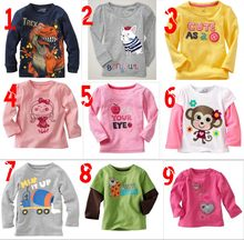 Promotions Long Sleeve Baby Boys and Girls Full Cotton T Shirts Children Clothing Boys T-Shirts Girls Tops Kids Tees 18M-5Years(China)