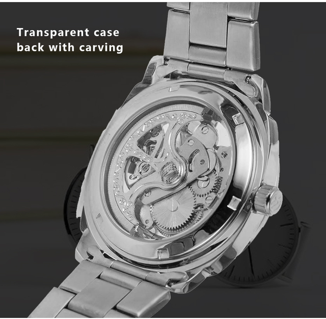 Winner sport design bezel golden watch mens watches top brand luxury montre homme clock men steampunk automatic skeleton watch