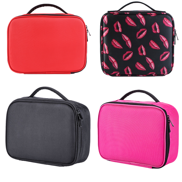 PU Cosmetic Bag Travel Ladies Professional Makeup Bag Women Large-capacity Canvas Leather Material Female Organize Makeup Case 6