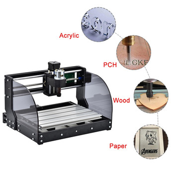 3Axis DIY Mini CNC Machine Wood Router Laser Engraving Milling Machine For Metal Pcb Milling Machine Wood Router Laser Engraving factory supply mini cnc laser router latest co2 laser engraving machine 220v 110v laser cnc router