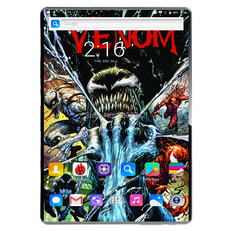 Sales Hot 8G+128GB Tempered Glass 2.5D 10 Inch Tablet PC Android 9.0 128GB ROM 1920*1200 IPS 3G 4G LTE Tablet 10 10.1