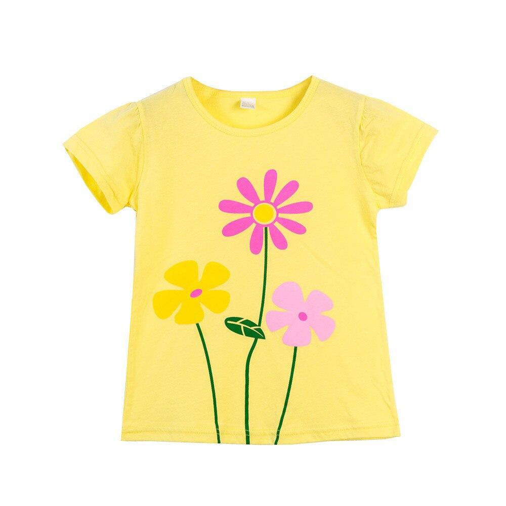 VIDMID  Children T-Shirts Cartoon Print Kids Baby girl Tops Short Sleeve T-Shirt children cotton pink t-shirts tees 4137 03 4