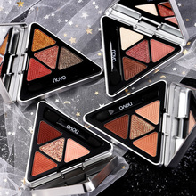 NOVO 4 Colors Triangle Butter Eyeshadow Nude Eye Makeup Glitter Shimmer Matte Pi