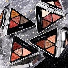 NOVO 4 Colors Triangle Butter Eyeshadow Nude Eye Makeup Glit