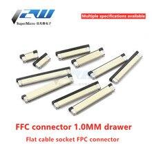 10 шт./лот FFC / FPC плоский кабель Разъем 1,0 мм верхней части соединителя ящик типа 4/5/6/8/10/12/16/20 ~ 30 W/40 W/P