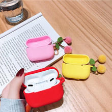 Cute Korean Cherry Fruit Silicone Cover for Apple Airpods Pro Case Bluetooth Wireless Earphone Case for AirPods 3 Charging Box(China)