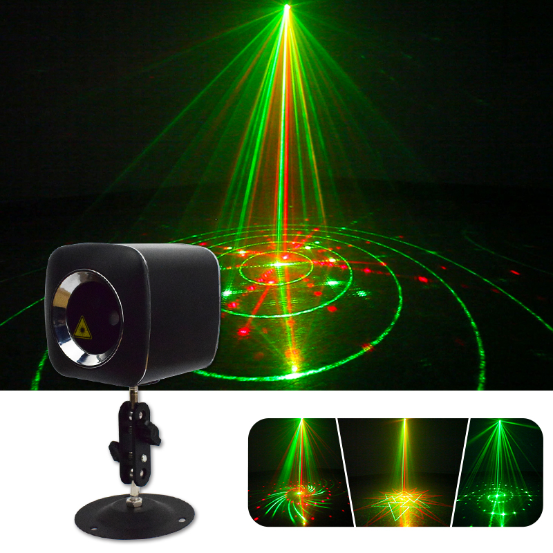 WUZSTAR Star Shower RGB Laser Light Mini Sound Activated Christmas Party Lights Indoor Decoration For Holiday Porjector Lighting