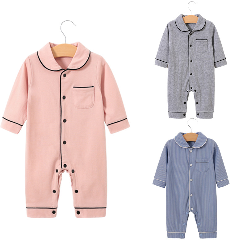 Infant Baby Boys Clothing Full Sleeve Solid Rompers Cotton 100% Casual Sleepwear Toddler Newborn Clothes Robes 0-24M