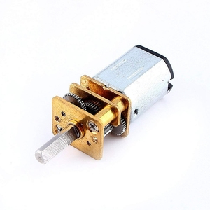 Mini Dc 12V Short Shaft Torque Gear Motor 200 Rpm With Metal Gear Replacement N20 For Rc Car, Robot Model, Diy Engine Toy (12V 2