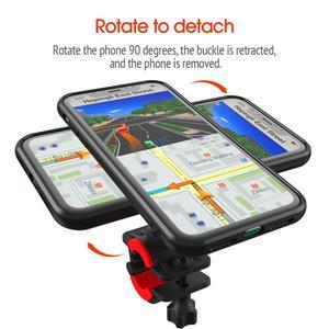 Image 5 - אופני אופניים אופנוע כידון הר מחזיק טלפון סלולרי תיק Bracke עם עמיד הלם מקרה הגנת Stand עבור iPhone 11 Pro מקסימום