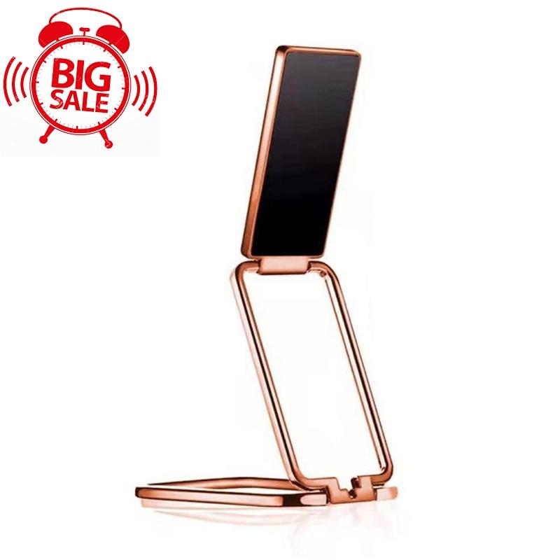 Складной мобильный телефон держатель с круглой пряжкой; Выдвижной настольный мобильный телефон держатель Автомобильный магнитный металли...
