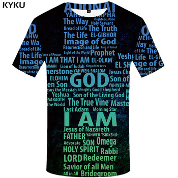3d Tshirt Jesus T-shirt Men Letter Tshirts Casual Abstract Shirt Print Hip Hop T-shirts 3d Anime Clothes Short Sleeve Punk Rock abstract print casual long sleeve t shirt