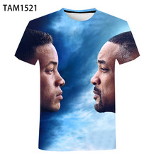 Gemini Man 2021 Summer New 3D Printing T-Shirt Men's And Women's Fashion Short Sleeve Children's American Casual Top