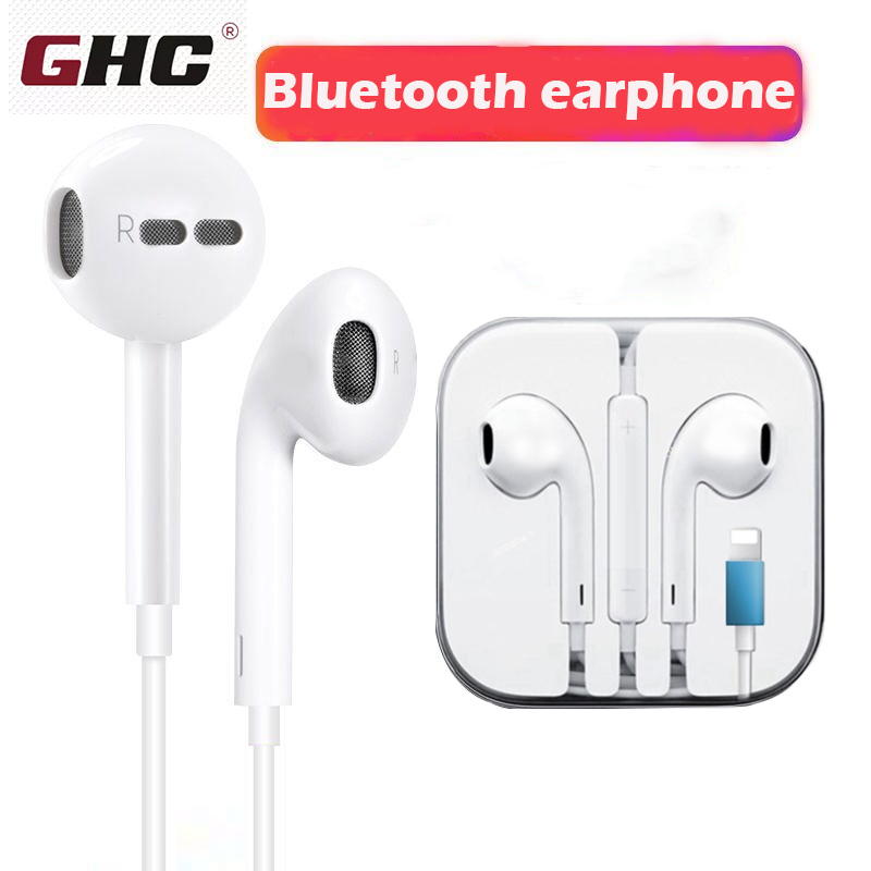 Wired Bluetooth Stereo Earphones  With Microphone In-Ear For IPhone 8 7 Plus X XR XS Wired Stereo Earbuds Gifts Headphone