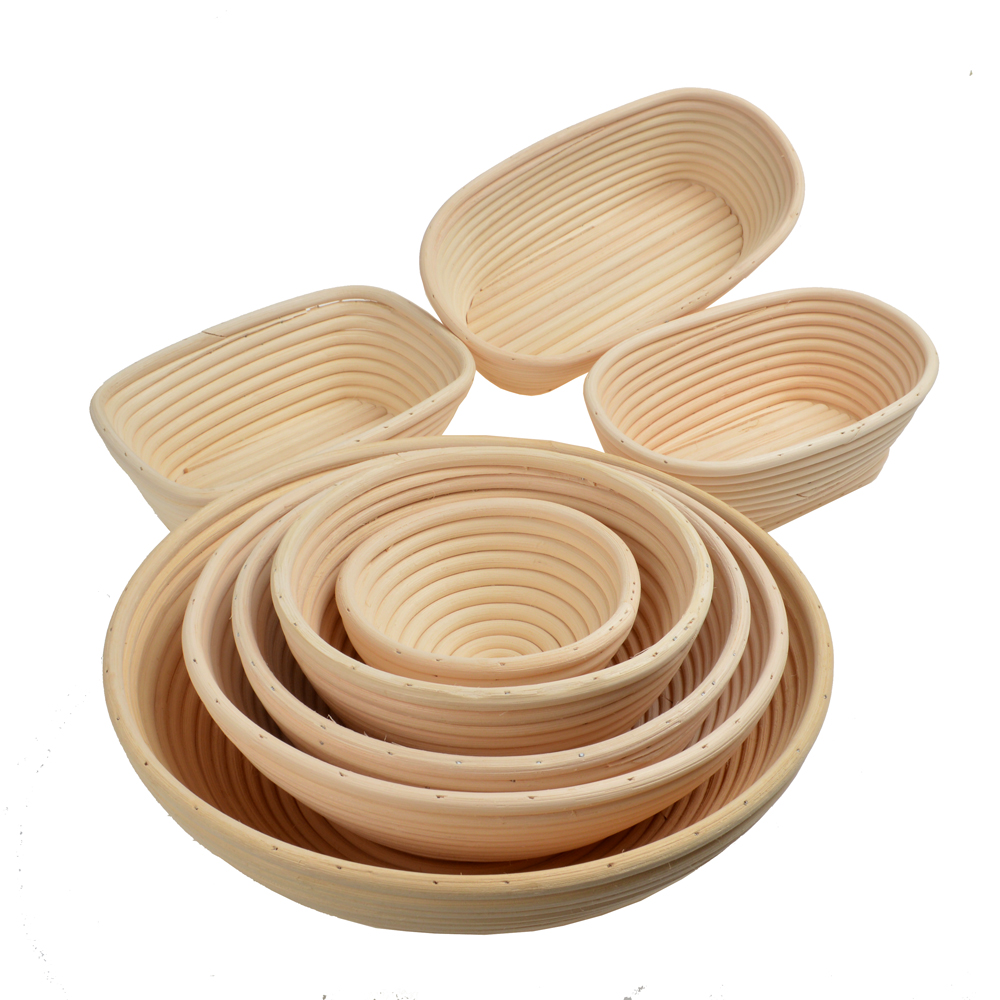Round Oval Rattan Bread Proofing Basket Bread Mold Sourdough Bread Banneton Basket Rectangular Ferment Bread Baking Mold