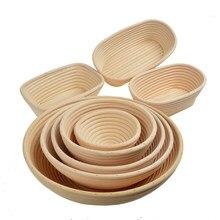 Cesta de pão de pão de fermento retangular molde de cozimento de pão