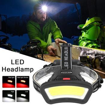 Portable COB LED Headlamp USB Camping Headlight With Adjustable Headband Waterproof Flashlight For Night Riding Fishing