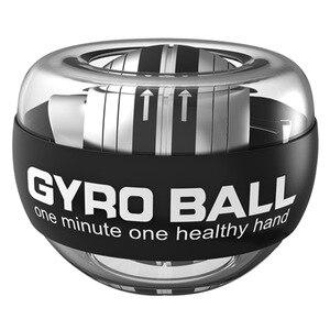 Радужный светодиодный мяч для мышц, тренажер для запястья, расслабляющий гироскоп, мощный мяч, гироскоп, тренажер для рук, укрепляющий фитне...